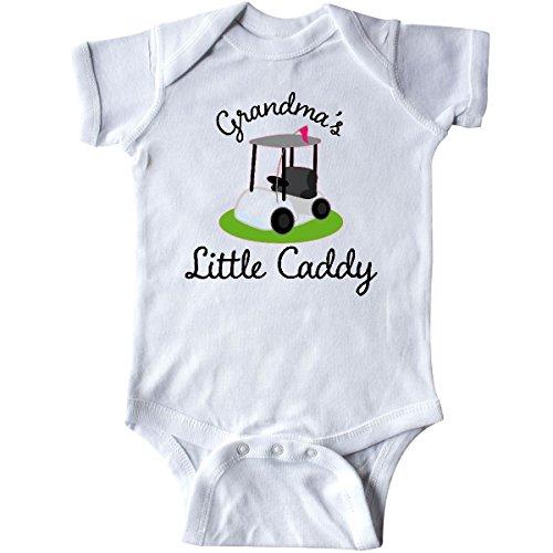 Grandma Golf Shirt (inktastic Grandma's Little Caddy Golf Infant Creeper 6 Months White)