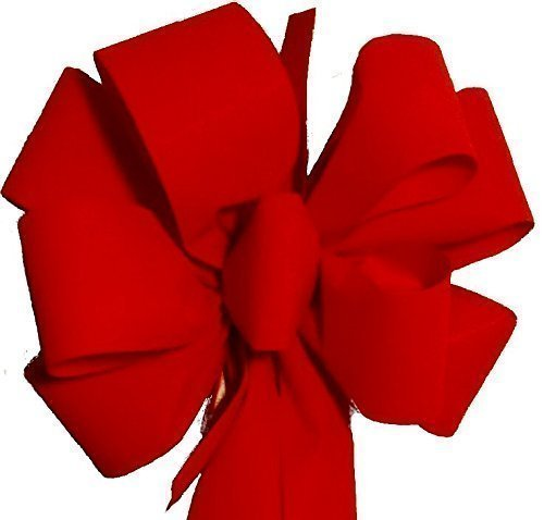 "FREE Shipping 12 Pack ($7.50 EA) Red Velvet Christmas Bows/10"" W x 26"" L Tails 20"" Handmade Decoration for Wreaths, Tree Topper, Indoor & Outdoor, Custom Package, Arrives Fluffy Not Flat"