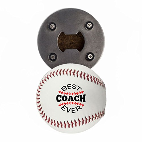 Coach Gift Bottle Opener, Bottle Opener made from a real Baseball, Best Coach Ever, Cap Catcher, Fridge Magnet