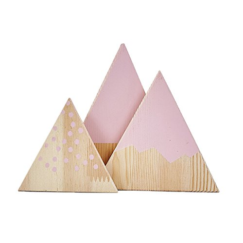 Mountain Garland - Infgreate Exquisite Ornaments 3Pcs/Set Nordic Mountain Style Triangle Shaped Kids Bedroom Decoration Ornaments - Pink