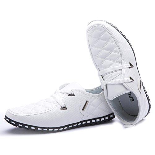 Xmwealthy Mens Comode Scarpe Casual Stringate Traspiranti Scarpe Basse Traspiranti Bianche