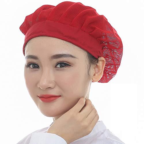 2 Piece Industrial Net - Xuxuan 2PCS Chef Waiter Mesh Cap Restaurant Kitchen Workshop Hair Net Reusable Adjustable Food Service Hair Protective