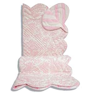 La CucA - Edredon Bouti Toile - Talla: 100X150 cm - Color : Rosa