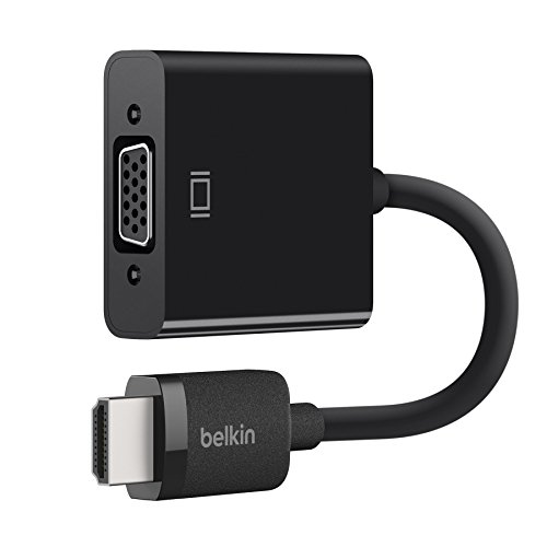 Belkin Projector - Belkin AV10170bt HDMI to VGA Adapter with Micro-USB Power and Audio Support, Compatible with Apple TV 4K and Most TVs