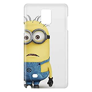 Loud Universe Samsung Galaxy Note 4 3D Wrap Around Minion Bob Standing Print Cover - Multi Color