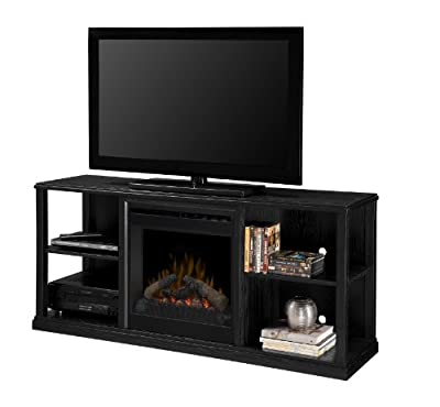 Dimplex DFP20-1342BA3A Jayden 60.5-Inch Wide by 26.8-Inch Tall Media Console with Electric Fireplace, Black