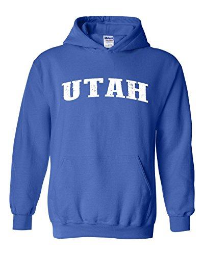 Ugo UT Utah Salt Lake City Map Home of Aggies Utes University of Utah Unisex Hoodie Sweatshirt ()