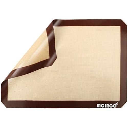 "Silicone Baking Mat, MCIRCO Baking Mat 2 Pack Nonstick Standard Half Sheet (11 5/8"" x 16 1/2"") Professional Grade Heat Resistant with Sheet Liner for Half-Size Pans Cookie Baking Sheet"