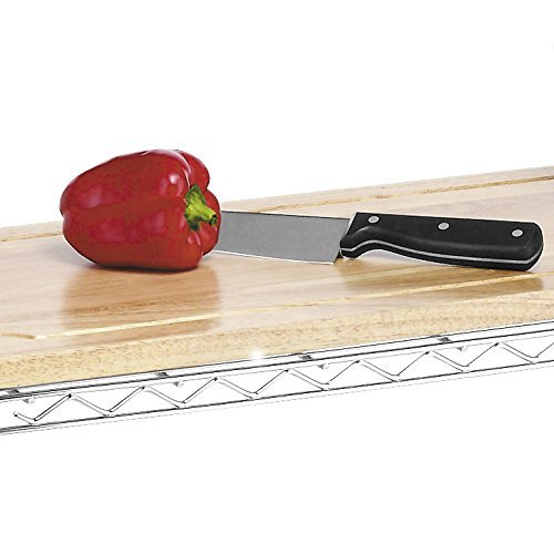 Chr Whitmor Supreme Baker'S Rack With Food Safe Removable Wood Cutting Board