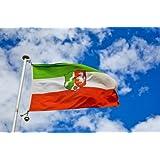Landesflagge Nordrhein-Westfalen NRW Fahne Flagge 150x90 Wetterfest