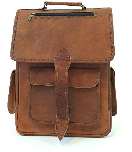 - Handmade Genuine Leather Backpack Laptop Bag for Men Women Rucksack Knapsack