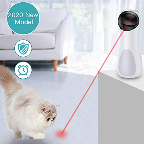 Upgrade Cat Laser Toy Automatic,Panda Interactive Cat Toy,Laser Pointer for Cats,Non-Handheld Cat Toys Interactive,Cute Chaser Toy,USB Charging,2 Speeds,5 Circling Ranges,Automatic On/Off,Silent Motor