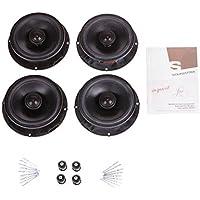SOUMATRIX VHK4 Passat Golf GTI Beetle Jetta Inspirit 8 Speaker Sound Upgrade Kit (Black)