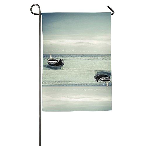 HenSLK Sea Sailboat Silhouette Vertical House Flag,garden Flag,home