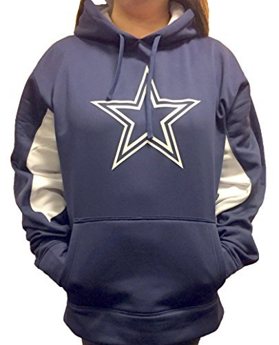 Dallas Cowboys Women's Plus Size Star Logo Polyester Hoodie (Plus 4X)