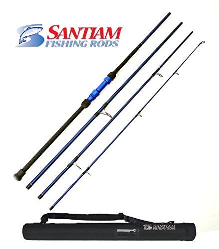 Santiam Fishing Rods Travel Rod 4 Piece 12' 17-40lb Surf Rod by Santiam Fishing Rods