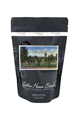 Spokane, Washington - Upper Terrace View of Greenwood Cemetery (8oz Whole Bean Small Batch Artisan Coffee - Bold & Strong Medium Dark Roast w/Artwork) (Terrace View)