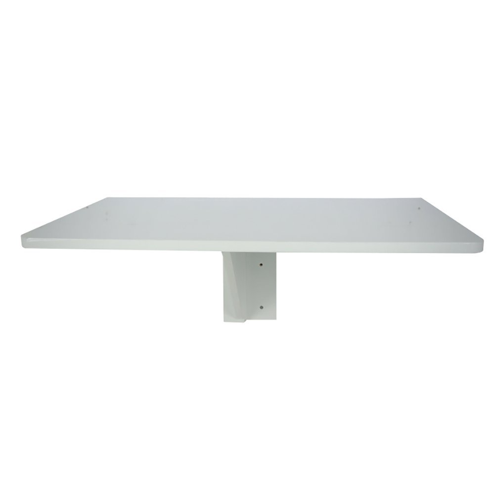 6040cm Folding Dining Table Side Table Wall-Mounted Solid Wood Computer Table Study Table 60  40cm 75  60cm White (Size   60  40cm)
