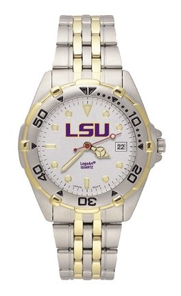 NCAA LSU Tigers Men's All Star Watch Stainless Steel Bracelet, Watch Central