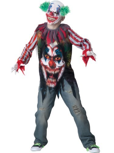 Big Top Terror Child Costume - Medium - Big Top Terror Scary Kids Costumes