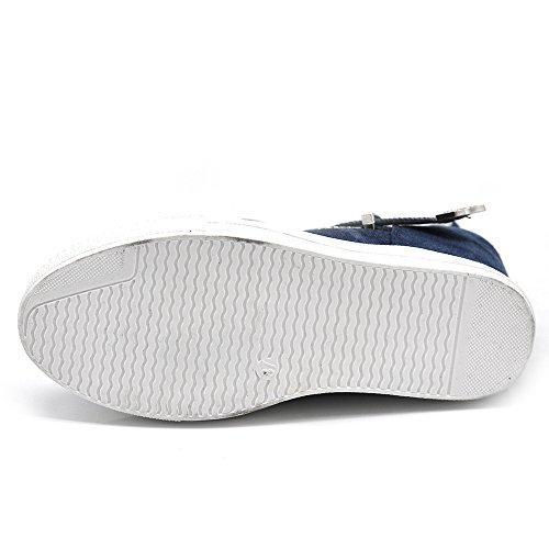 Senza marca/Generico - Damen Stiefel & Stiefeletten K813 blu scur