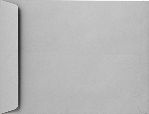 10 x 13 Open End Envelopes - Gray Kraft (500 Qty.) | Perfect look for high-end brochures and catalogs | Printable | 28lb Text Paper | 10686-500 by Envelopes.com