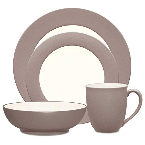 Noritake Colorwave Rim 4-Piece Place Setting in Clay