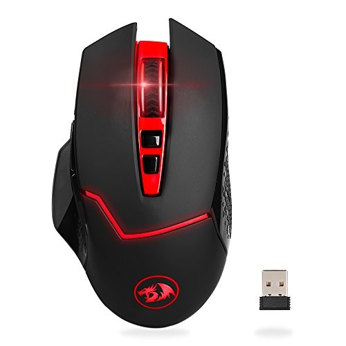 Redragon M690-1 2400DPI 2.4GHz Wireless Adjustable Gaming Mouse with 8 Buttons for Notebook, PC, Laptop, Computer (Black)