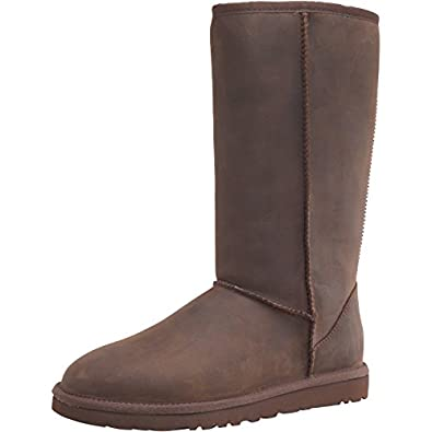 Womens UGG Womens Classic Tall Tasman Boots Brownstone - Dark Brown/Cream - 3.5 UK