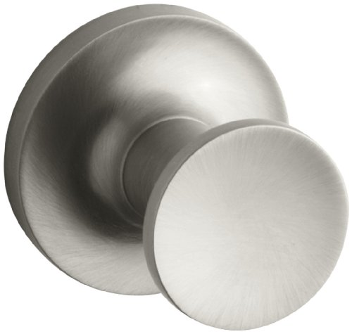 KOHLER K-14443-BN Purist Robe Hook, Vibrant Brushed Nickel by Kohler