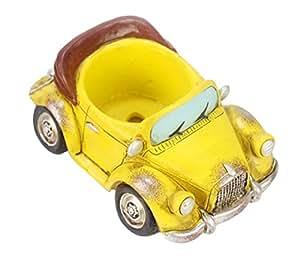 "insun resina Mini Creative coche landcape carnosas maceta maceta contenedor oficina jardín regalos 4.6""* 6.3"" * 3.1"