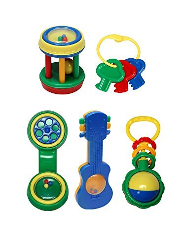 Gberry Baby Rattle Gift Set (5 Piece)