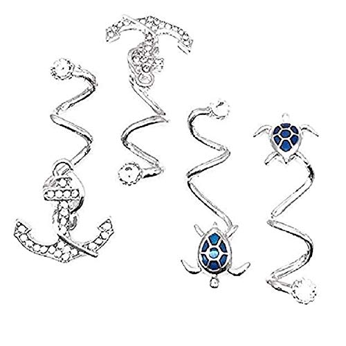 Flip Flop Shoe Charms (Two Pair) Turtles and Anchors