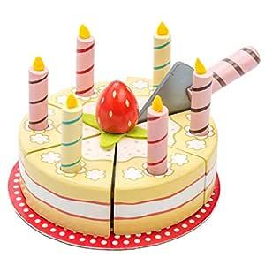 Le Toy Van Le Toy skåpbil födelsedagsfest av trä flerfärgad, flerfärgad