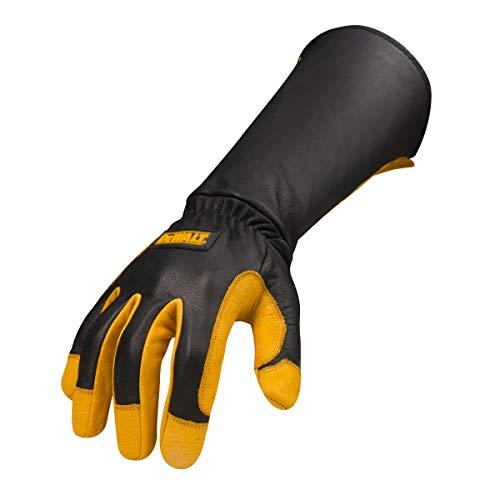 DEWALT DXMF04051MD Premium Leather Welding Gloves, Medium (Dewalt Glove Leather Palm)