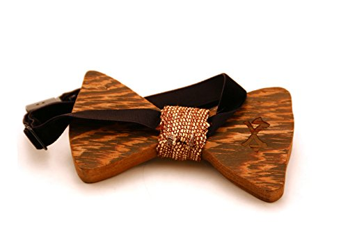 Men's Classic Wooden Bow Tie, Handmade from Natural ...
