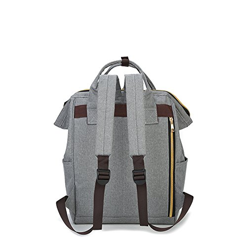 Stylish Backpack Style Canvas School Backpack Functional Travel Bag for Men Women