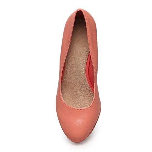 La Modeuse - Zapatos de Vestir de Material Sintético Mujer Rose
