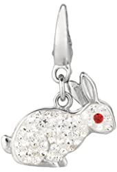 Sterling silver Crystal Rabbit (Charm)