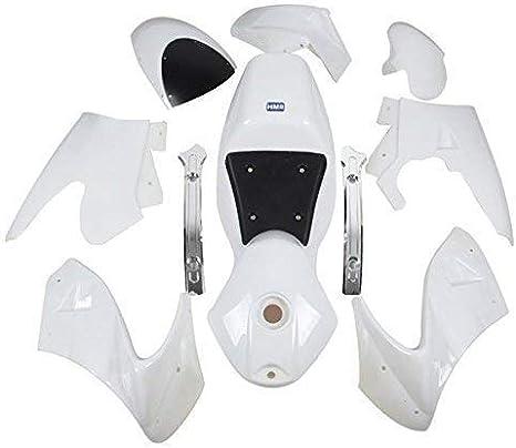HMParts Pocket Bike Racing Verkleidung Set komplett Weiss