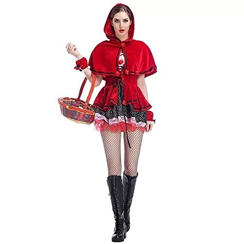 Medium Zooka Christmas Little Red Riding Hood Dress Up Halloween Drama Stage Performance Dress