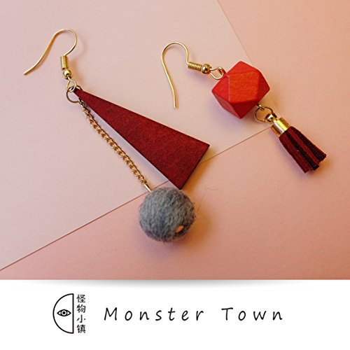 usongs original town geometric earrings jewelry fringed wool felt star with fans you recommend