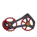 RockBros Carbon Fiber Bike Rear Derailleur Pulleys Ceramic Bearings Jockey Wheel Set for Shimano RD 6800 6870 9000 9070