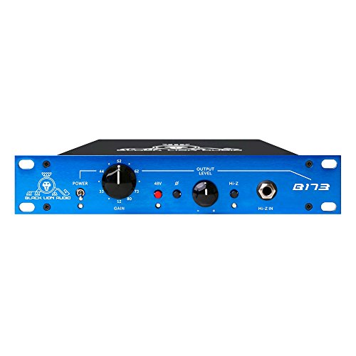 Black Lion Audio B173 Single-Channel Microphone Preamplifier, 12-80 dB Gain, 12-Step Gain Control (Preamp Neve 1073)