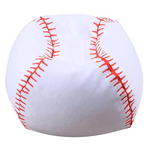 Longay 26inch Lovely Baseball Home Stuffed Animal Plush Toy Storage Organizer Bean Bag Chair Soft Pouch (B)