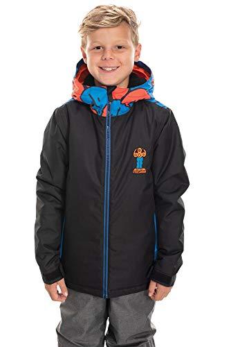 686 Boy's Forest Insulated Jacket - Waterproof Ski/Snowboard Winter Coat, Black Colorblock, X-Large (686 Boys Snowboard Jacket)