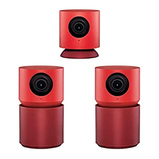 Hoop Home Security Camera, 1080p IP Indoor Wired Video Surveillance System, Sound/Motion Detection, 130° View Angle, Text to Speech, 2-Way Audio, Reminders, Live View Smart App
