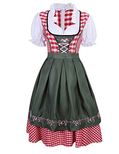 LanLan Women's German Mini Dirndl Oktoberfest Fancy Dress Ladies Costume S -