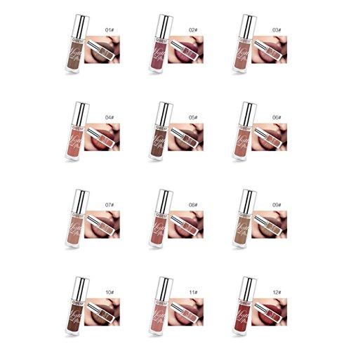 Petansy 12 Colors Matte Lipstick Set No fading Non-stick to Cup Lip Gloss Kit Waterproof Lipstick (Halloween Lip Tattoos Uk)