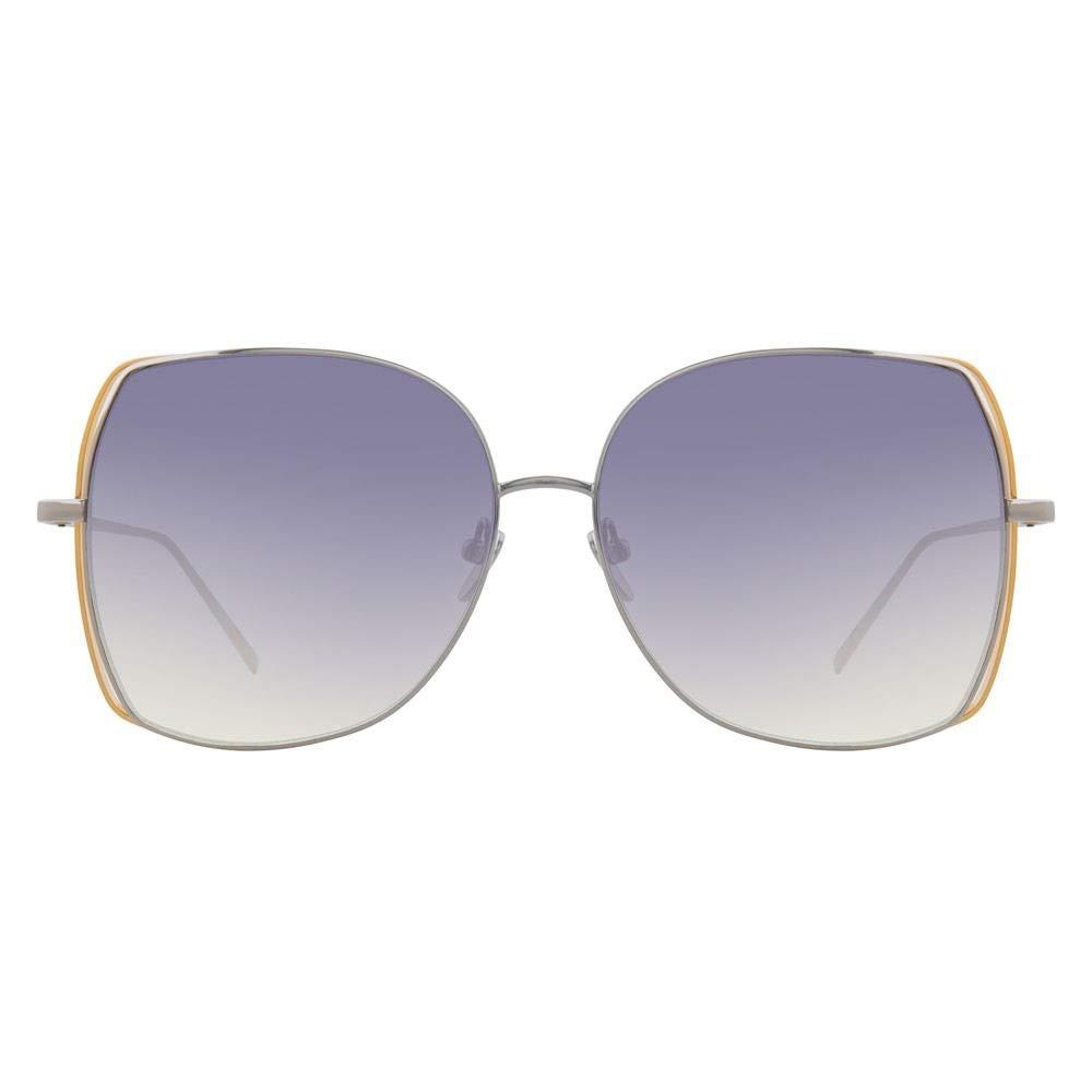 サングラス サンシェードミラーパープルゴールドファッションレディースメガネパーソナリティビッグボックスサングラス, ファッションサングラス  Purple B07THK2JL1